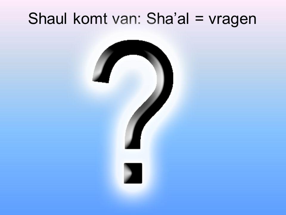 Shaul komt van: Sha'al = vragen
