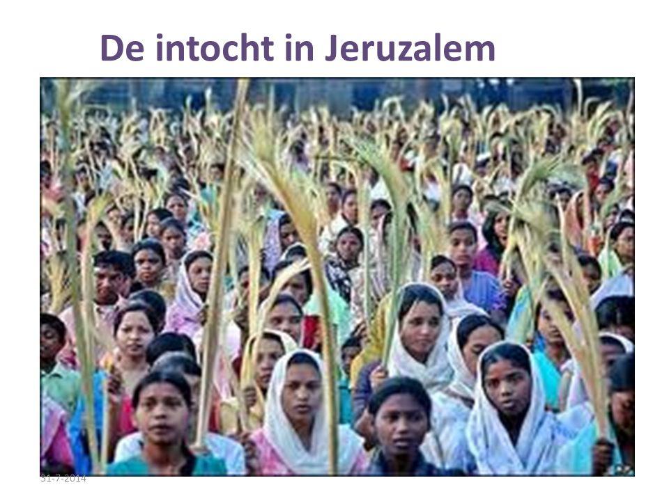 De intocht in Jeruzalem 31-7-2014