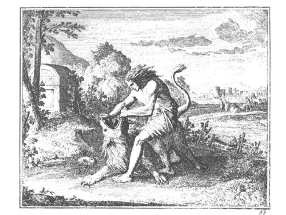..daarna baarde deze vrouw een zoon en zij roept de naam van hem Simson; het jongetje groeit en Jahweh zegent hem.