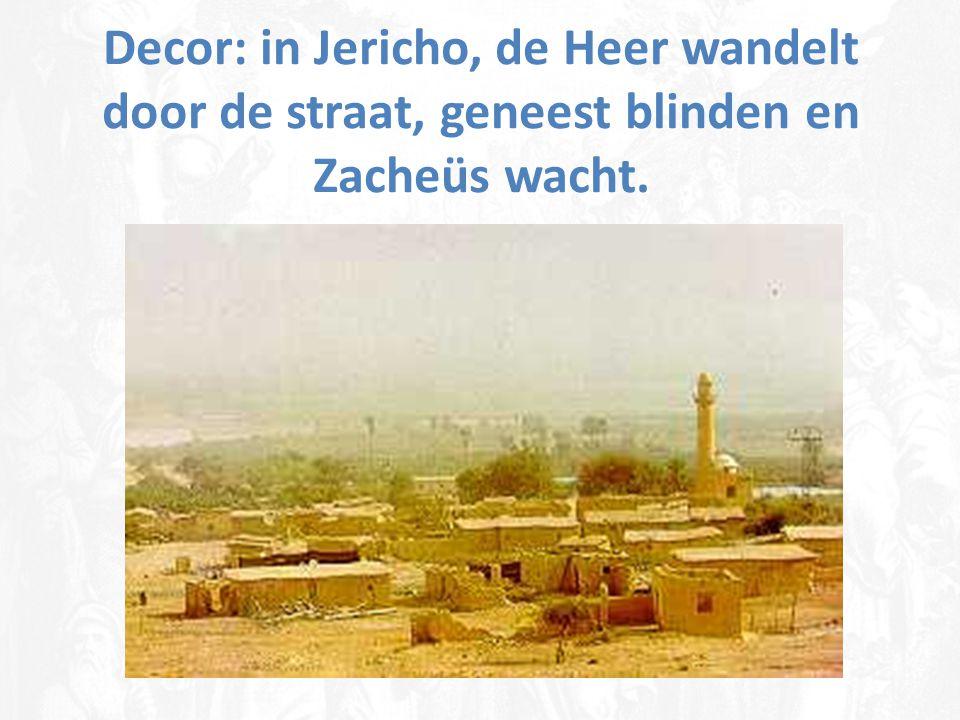 ..en binnengaand, kwam Hij door Jericho  Hij wandelt door de wereldgeschiedenis van deze oude schepping