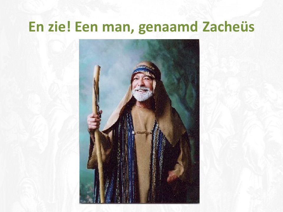 En zie! Een man, genaamd Zacheüs