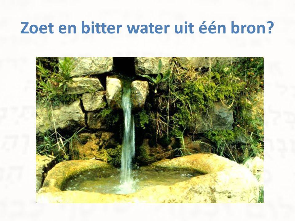 Zoet en bitter water uit één bron?