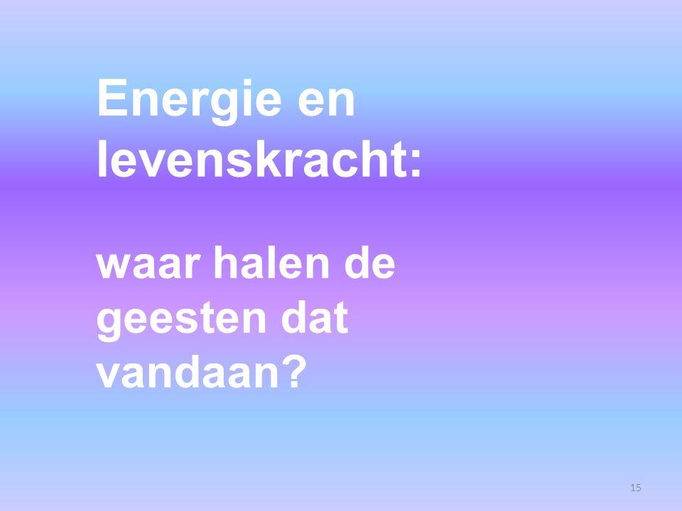 15 Energie en levenskracht: waar halen de geesten dat vandaan?