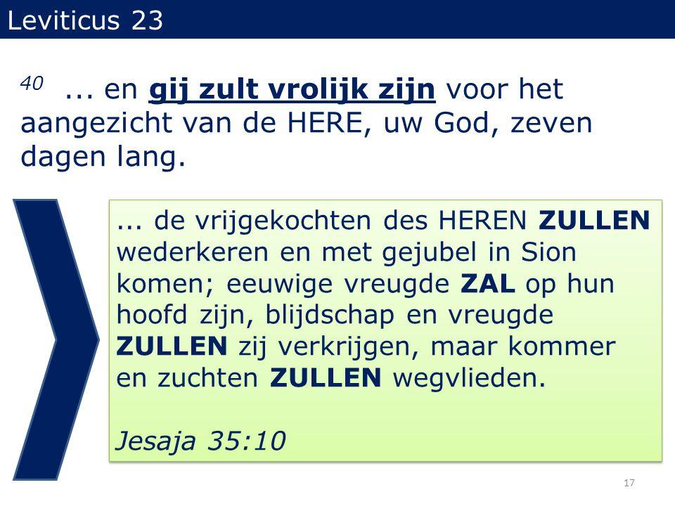 Leviticus 23 40...