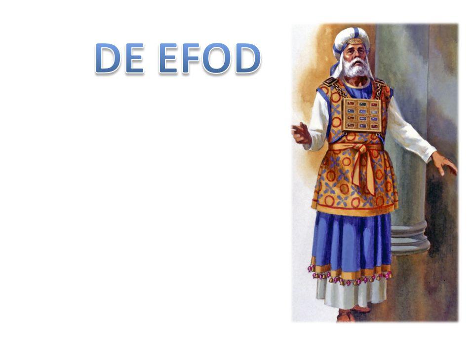 Exodus 28 6 Zij zullen de efod maken van goud, blauwpurper, roodpurper, scharlaken en getweernd fijn linnen: kunstig werk.