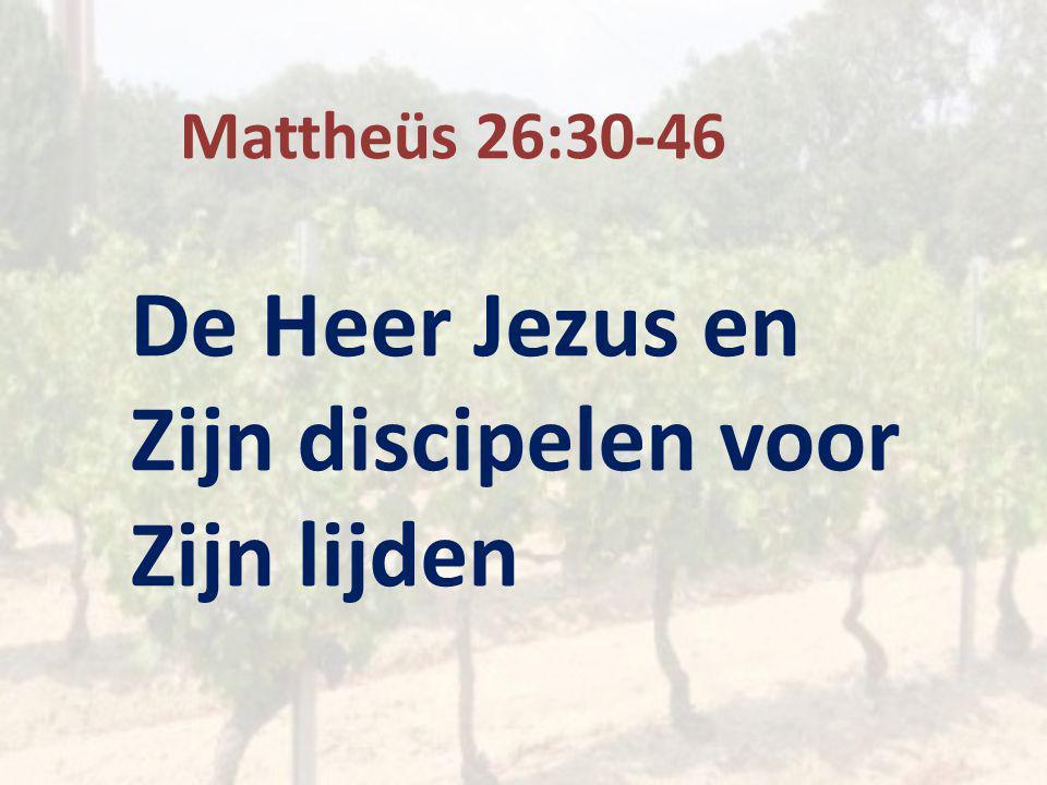 Mattheüs 26:30-46 De Heer Jezus en Zijn discipelen voor Zijn lijden