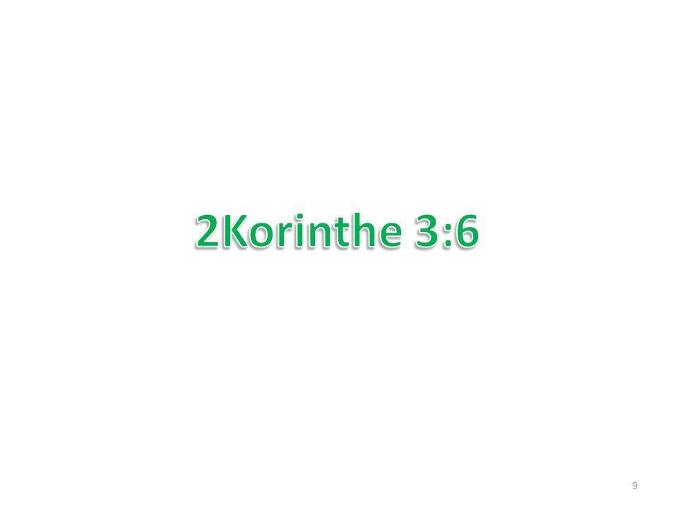 2Korinthe 3:6 die (= God) ons ook bekwaam gemaakt heeft om dienaren te zijn van een nieuw verbond niet der letter, maar des Geestes, want de letter doodt, maar de Geest maakt levend.