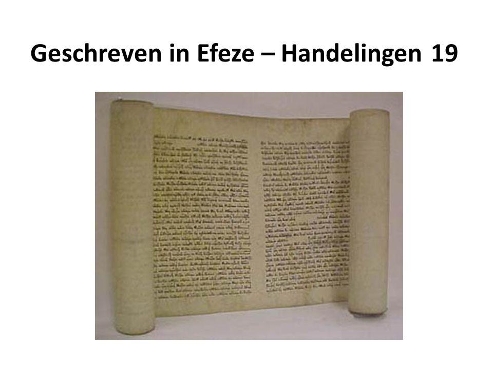 Geschreven in Efeze – Handelingen 19