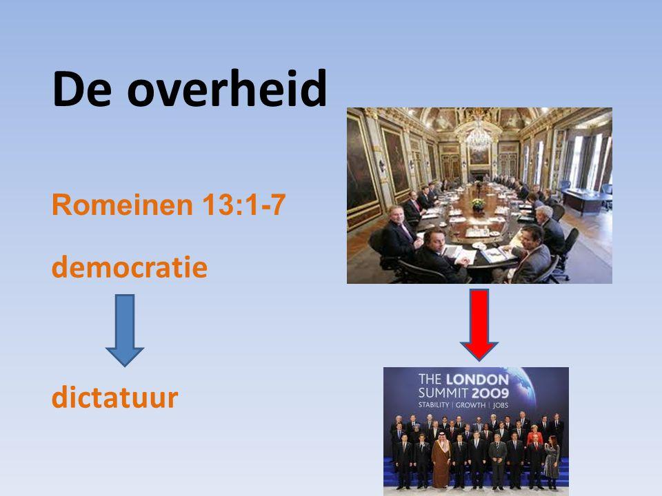De overheid Romeinen 13:1-7 democratie dictatuur