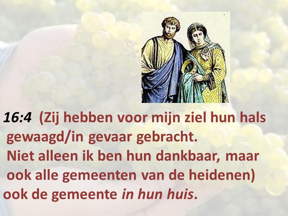 16:4 (Zij hebben voor mijn ziel hun hals gewaagd/in gevaar gebracht.