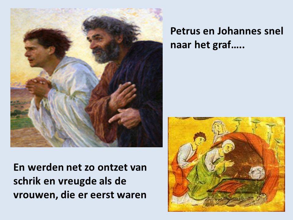 Petrus en Johannes snel naar het graf…..