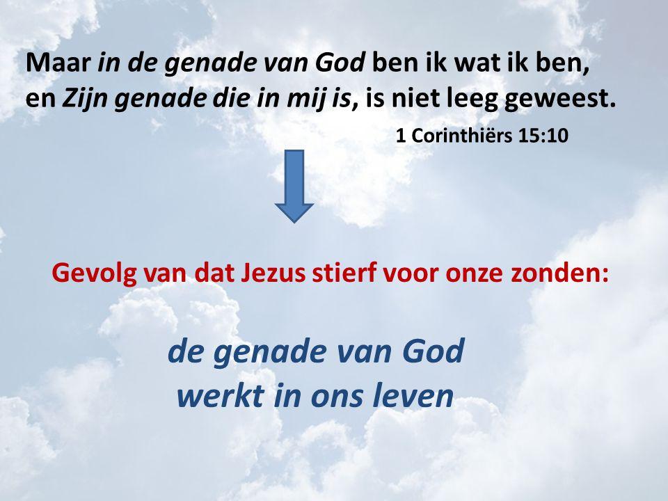 Maar in de genade van God ben ik wat ik ben, en Zijn genade die in mij is, is niet leeg geweest.