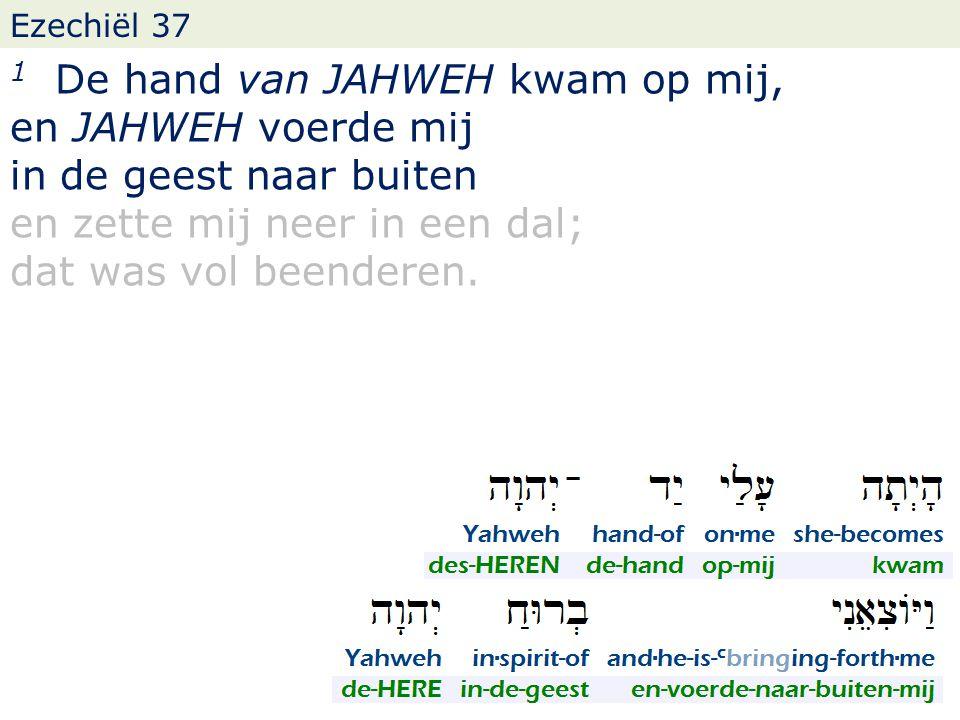 Ezechiël 37 12 Daarom profeteer en zeg tot hen: Zo zegt mijn Heer JAHWEH: zie, Ik open uw graven en zal u uit uw graven doen opkomen, o mijn volk, en u brengen naar het land Israels.