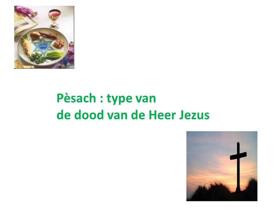 Pèsach : type van de dood van de Heer Jezus