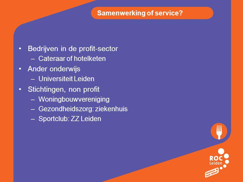 Samenwerking of service.