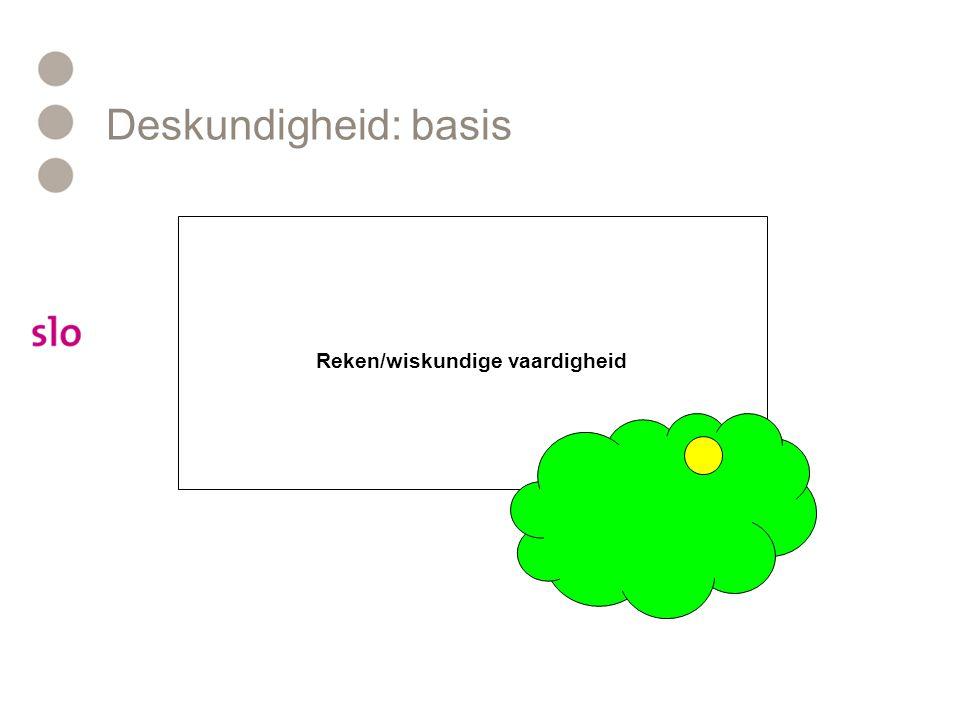 Deskundigheid: basis Reken/wiskundige vaardigheid