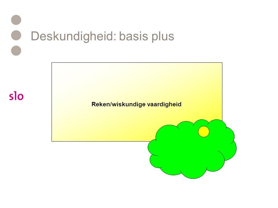 Deskundigheid: basis plus Reken/wiskundige vaardigheid