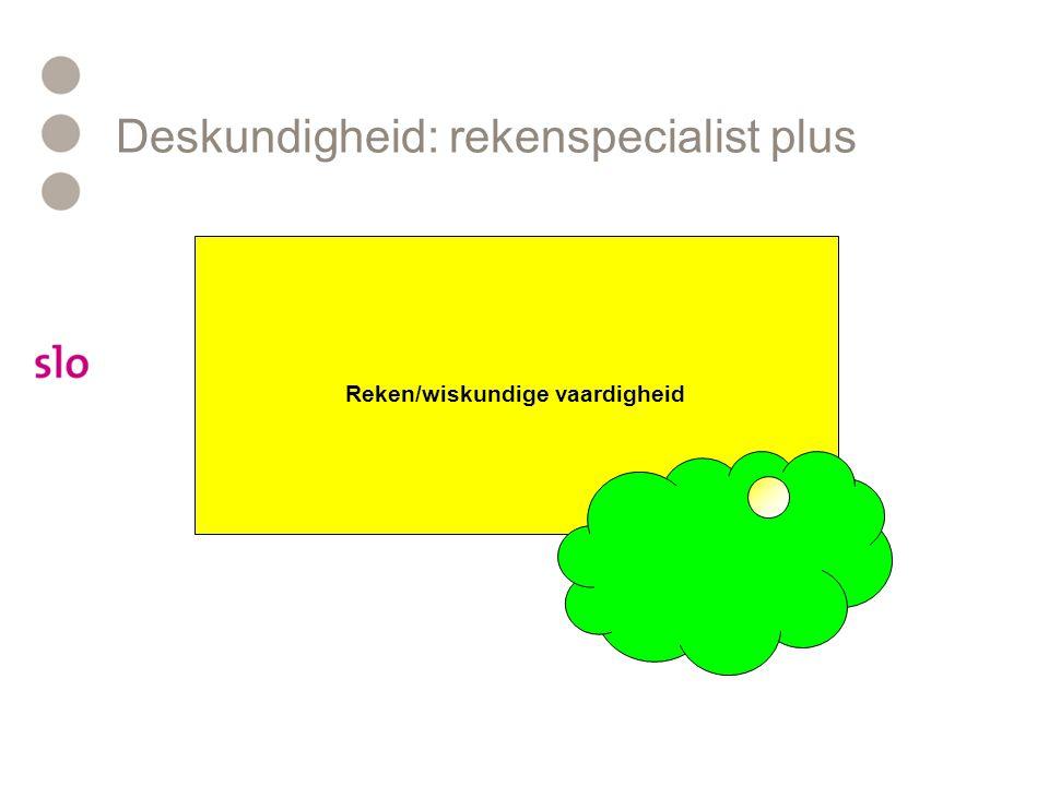 Deskundigheid: rekenspecialist plus Reken/wiskundige vaardigheid