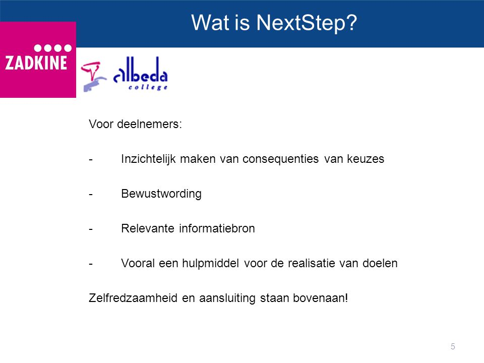 5 Wat is NextStep.