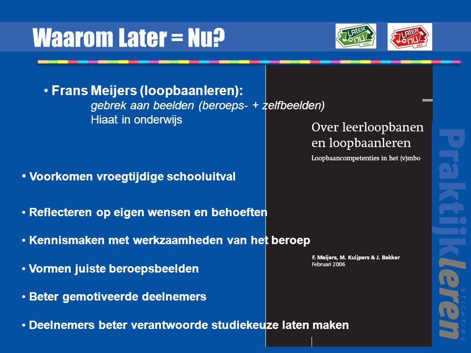 Online game voor loopbaanoriëntatie in het mbo met Waaruit bestaat Later = Nu.