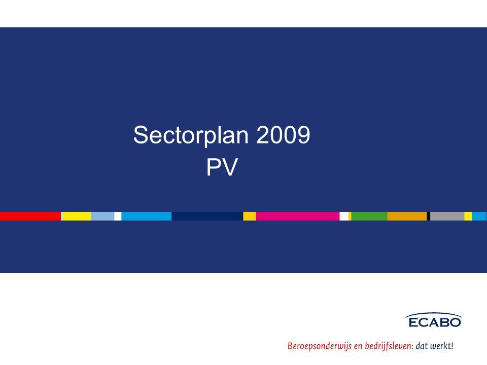 Sectorplan 2009 PV
