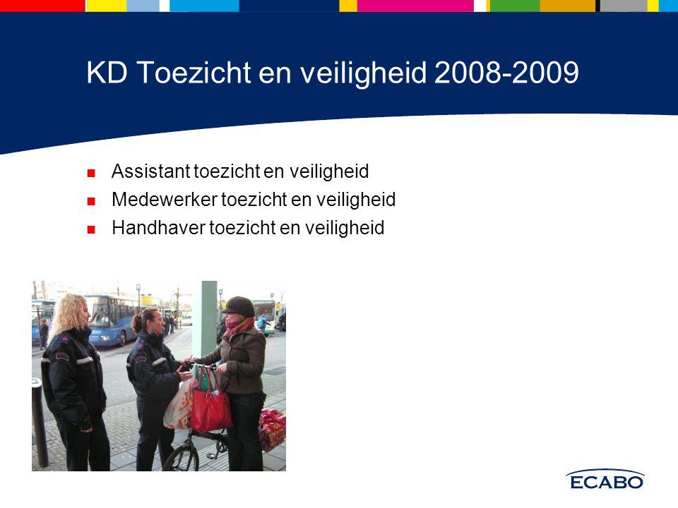 KD Toezicht en veiligheid 2008-2009 Assistant toezicht en veiligheid Medewerker toezicht en veiligheid Handhaver toezicht en veiligheid