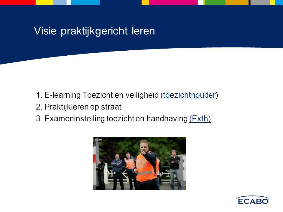 1. E-learning Toezicht en veiligheid (toezichthouder)toezichthouder 2.