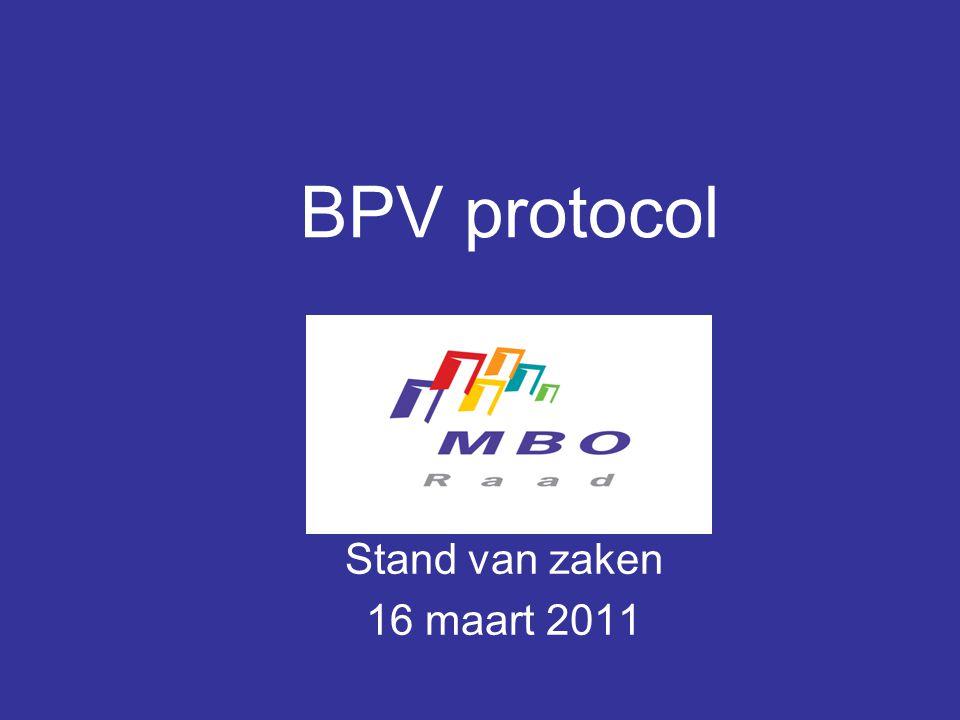 BPV protocol Stand van zaken 16 maart 2011