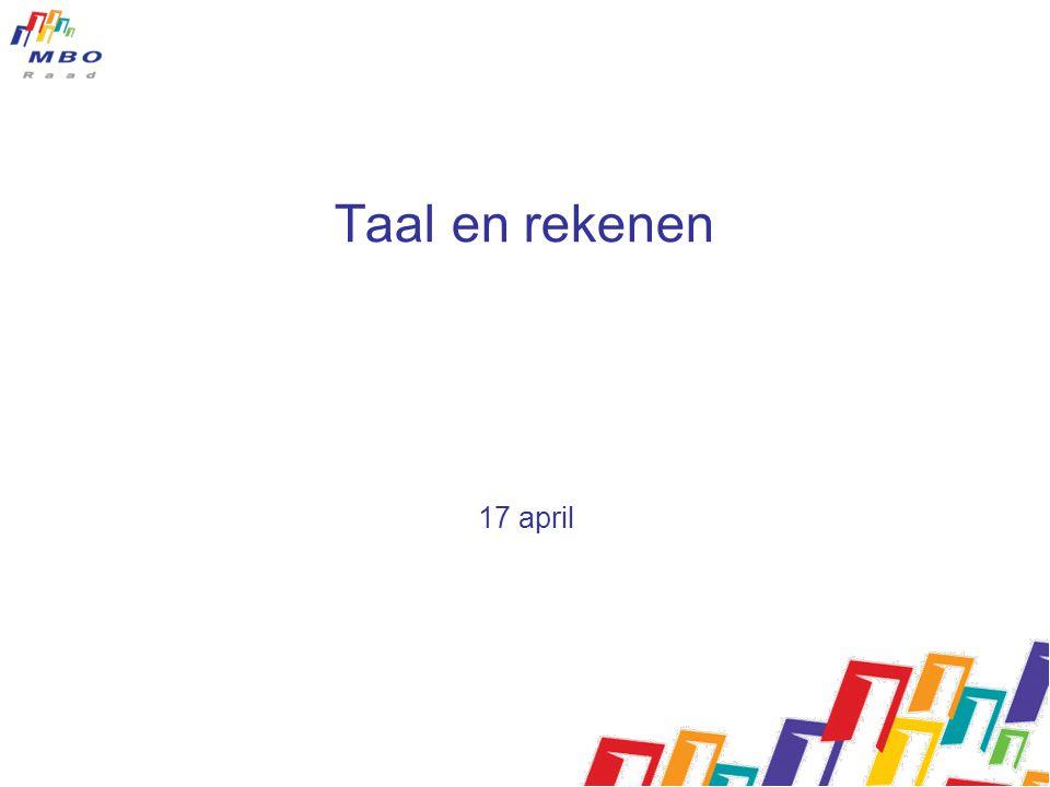 Taal en rekenen 17 april