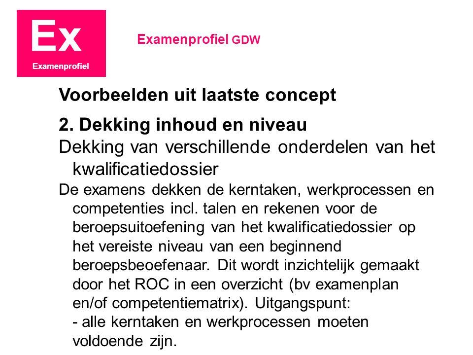 Ex Examenprofiel 2.
