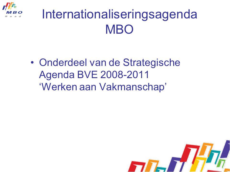 Internationaliseringsagenda MBO Onderdeel van de Strategische Agenda BVE 2008-2011 'Werken aan Vakmanschap'