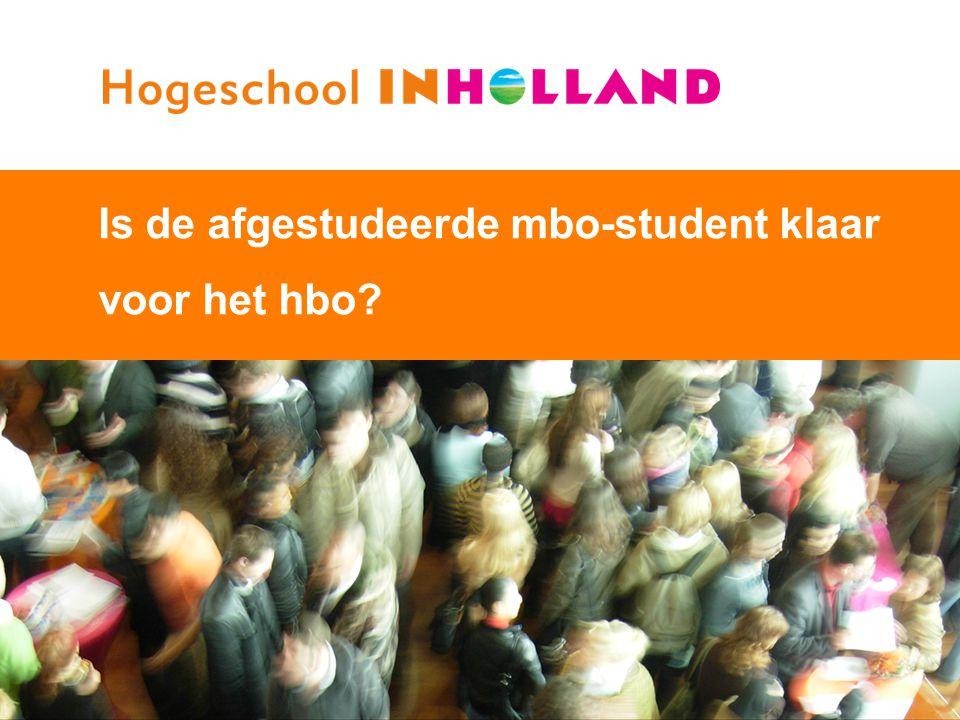 1 Is de afgestudeerde mbo-student klaar voor het hbo