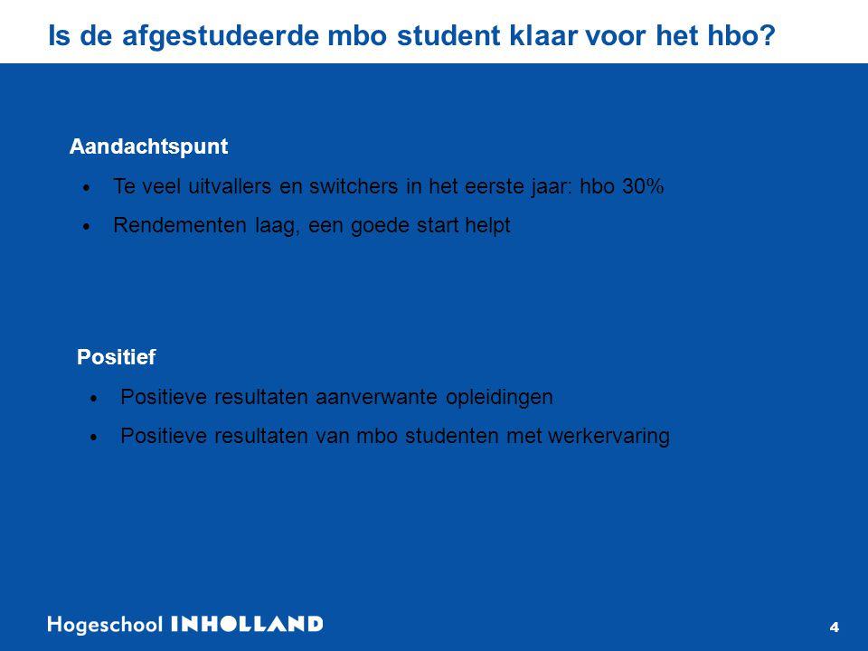 4 Is de afgestudeerde mbo student klaar voor het hbo.