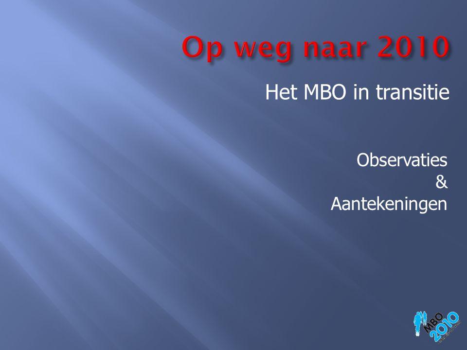 Het MBO in transitie Observaties & Aantekeningen