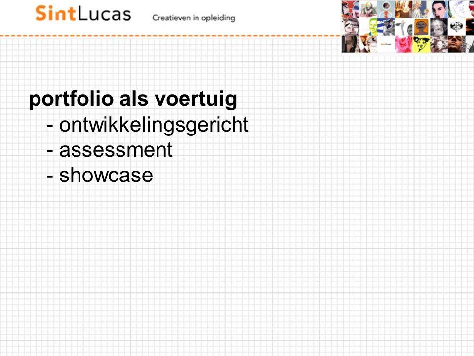 portfolio als voertuig - ontwikkelingsgericht - assessment - showcase