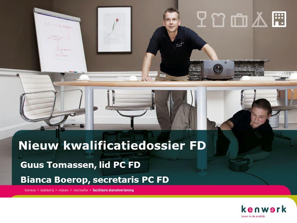 Titel presentatie Subtitel presentatie Titel presentatie Subtitel presentatie Nieuw kwalificatiedossier FD Guus Tomassen, lid PC FD Bianca Boerop, secretaris PC FD