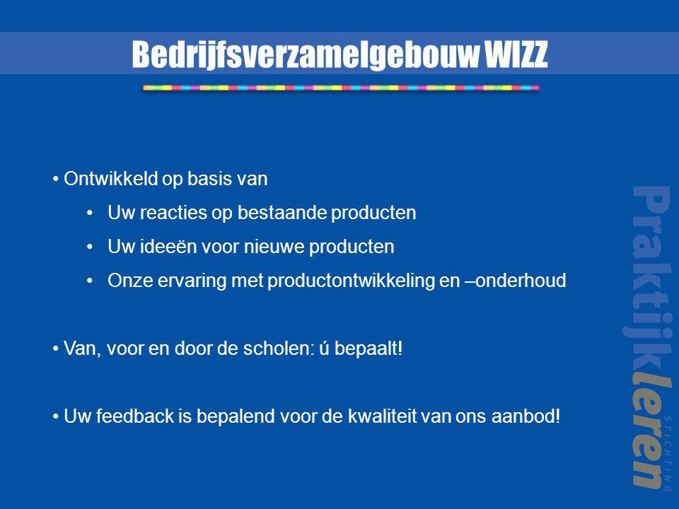 Bedrijfsverzamelgebouw WIZZ Ontwikkeld op basis van Uw reacties op bestaande producten Uw ideeën voor nieuwe producten Onze ervaring met productontwik