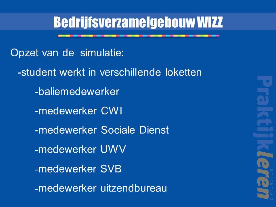 Opzet van de simulatie: -student werkt in verschillende loketten -baliemedewerker -medewerker CWI -medewerker Sociale Dienst - medewerker UWV - medewe
