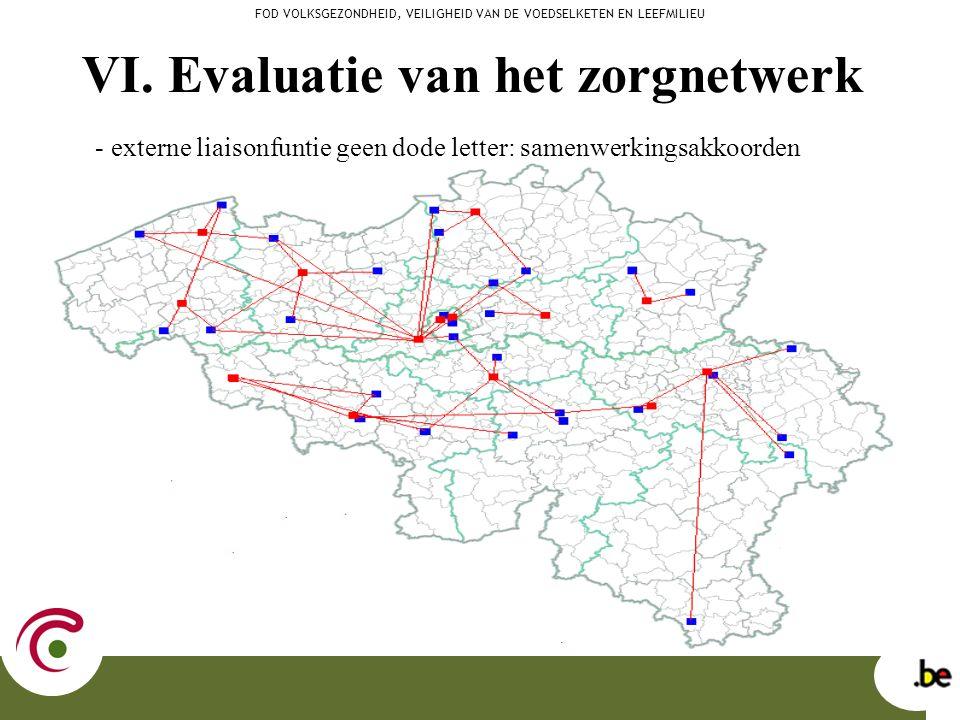 VI. Evaluatie van het zorgnetwerk - externe liaisonfuntie geen dode letter: samenwerkingsakkoorden FOD VOLKSGEZONDHEID, VEILIGHEID VAN DE VOEDSELKETEN