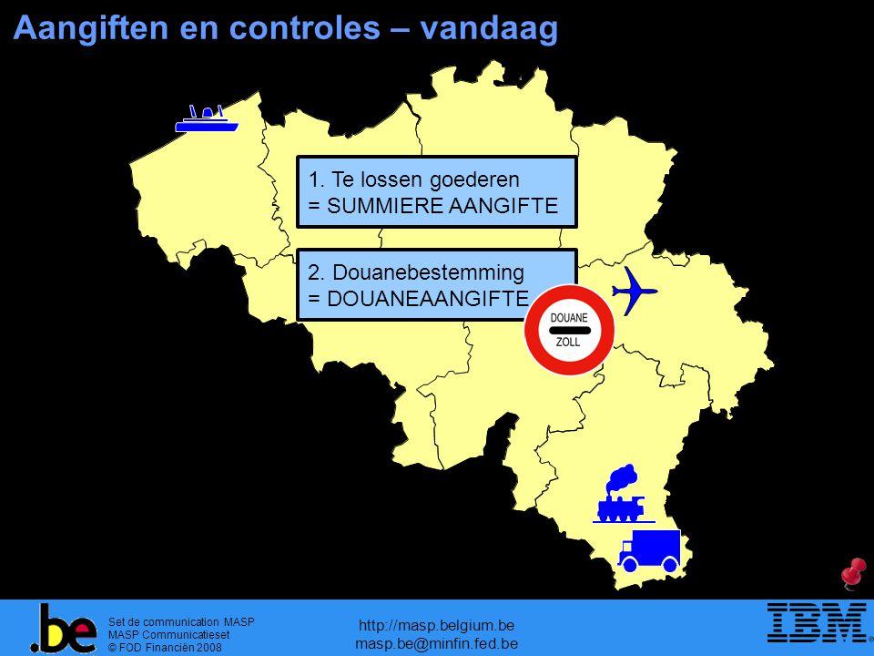 Set de communication MASP MASP Communicatieset © FOD Financiën 2008 http://masp.belgium.be masp.be@minfin.fed.be Aangiften en controles – vandaag 1. T