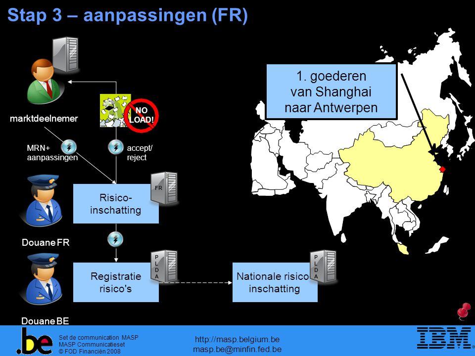Set de communication MASP MASP Communicatieset © FOD Financiën 2008 http://masp.belgium.be masp.be@minfin.fed.be Stap 3 – aanpassingen (FR) 1.