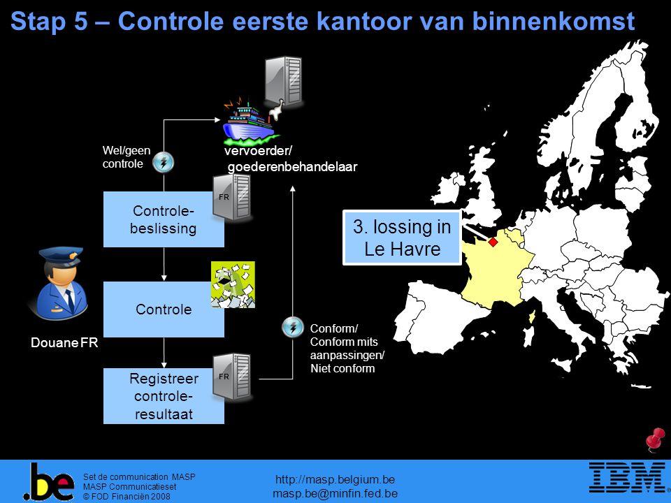 Set de communication MASP MASP Communicatieset © FOD Financiën 2008 http://masp.belgium.be masp.be@minfin.fed.be Stap 5 – Controle eerste kantoor van