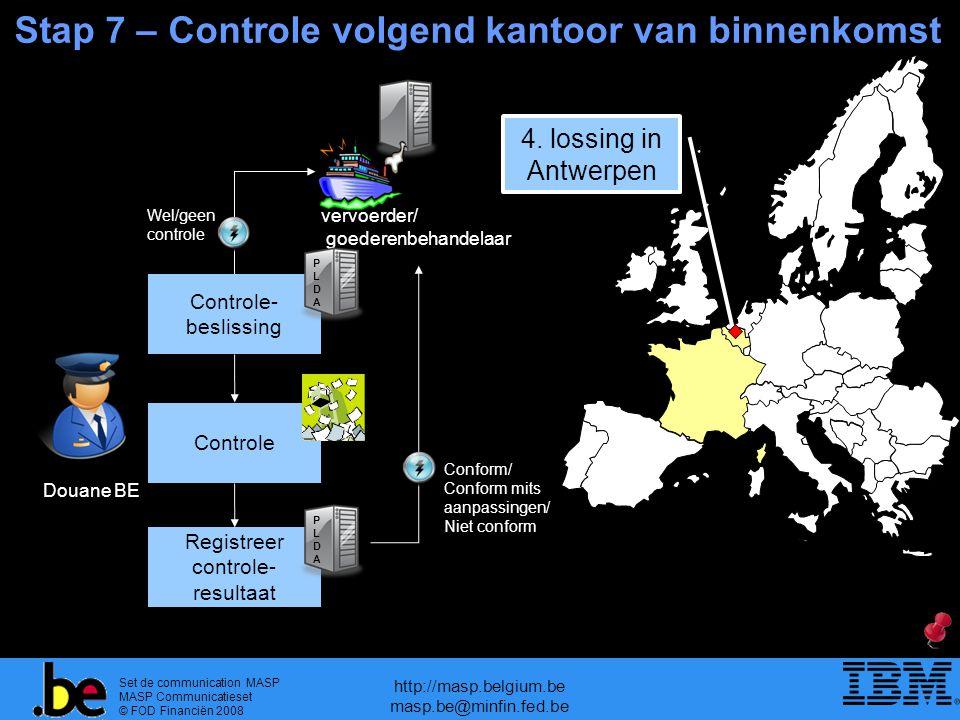 Set de communication MASP MASP Communicatieset © FOD Financiën 2008 http://masp.belgium.be masp.be@minfin.fed.be Stap 7 – Controle volgend kantoor van