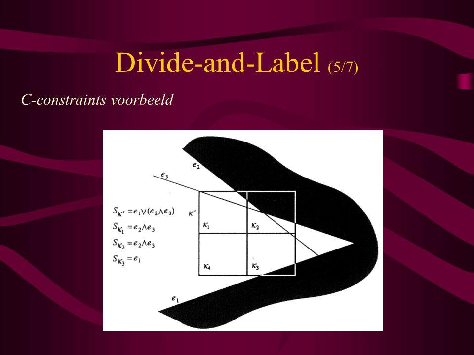 Divide-and-Label (5/7) C-constraints voorbeeld