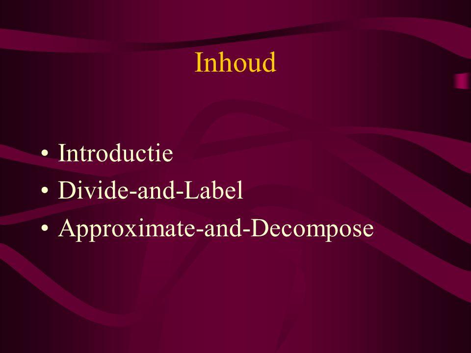 Introductie (1/9) Enkele definities –A : robot –C : configuratie space C = R n óf C = R n X S 1 –CB : ruimte van object (C-obstacle) in C –q goal, q init