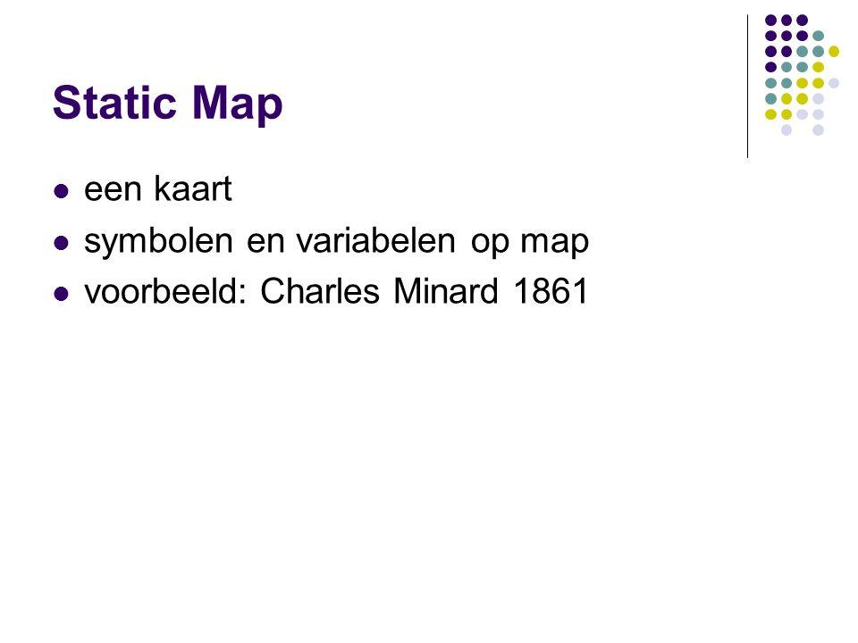 Static Map een kaart symbolen en variabelen op map voorbeeld: Charles Minard 1861