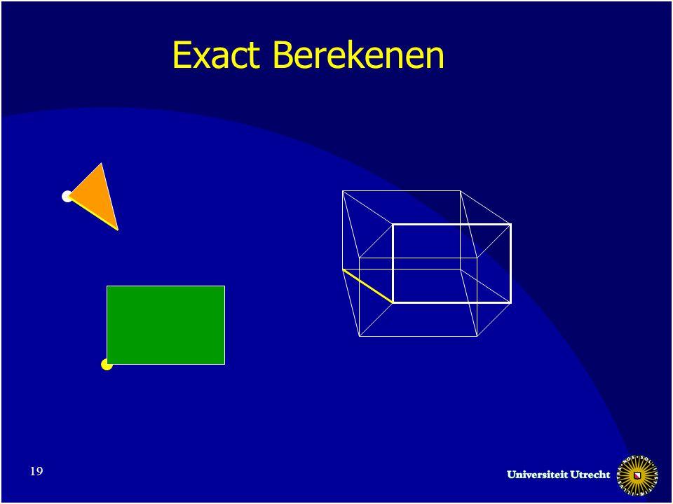 19 Exact Berekenen