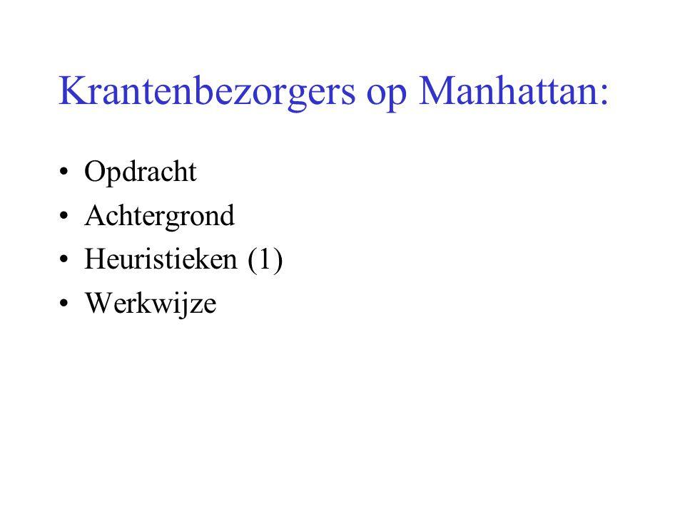 Krantenbezorgers op Manhattan: Opdracht Achtergrond Heuristieken (1) Werkwijze