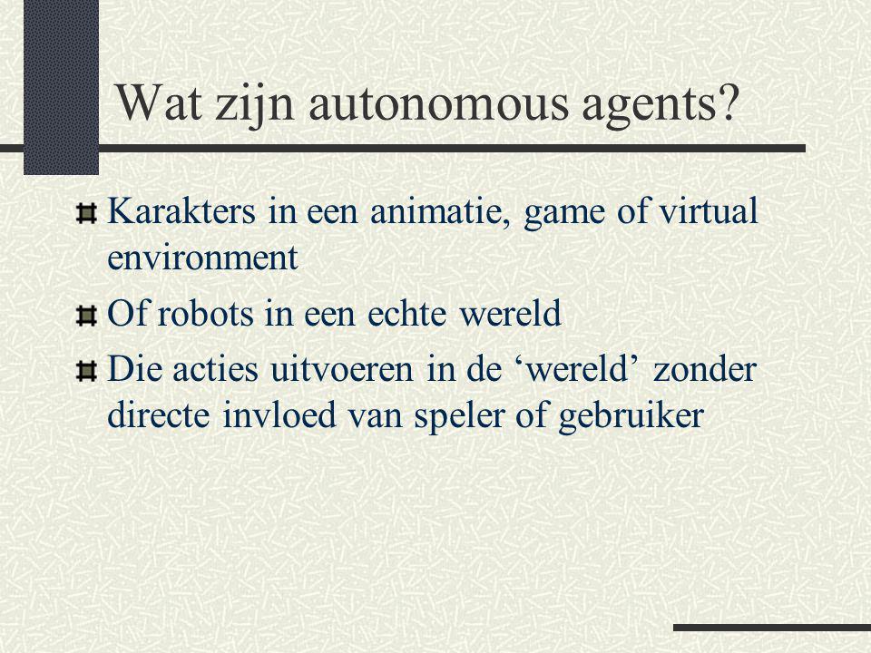 Wat zijn autonomous agents.