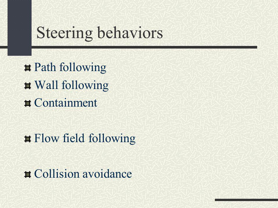 Steering behaviors, Flocking Seperation Cohesion Alignment Leader following